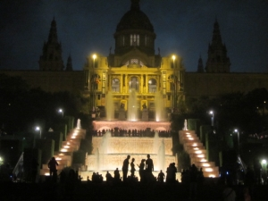 magic fountains at night bcn