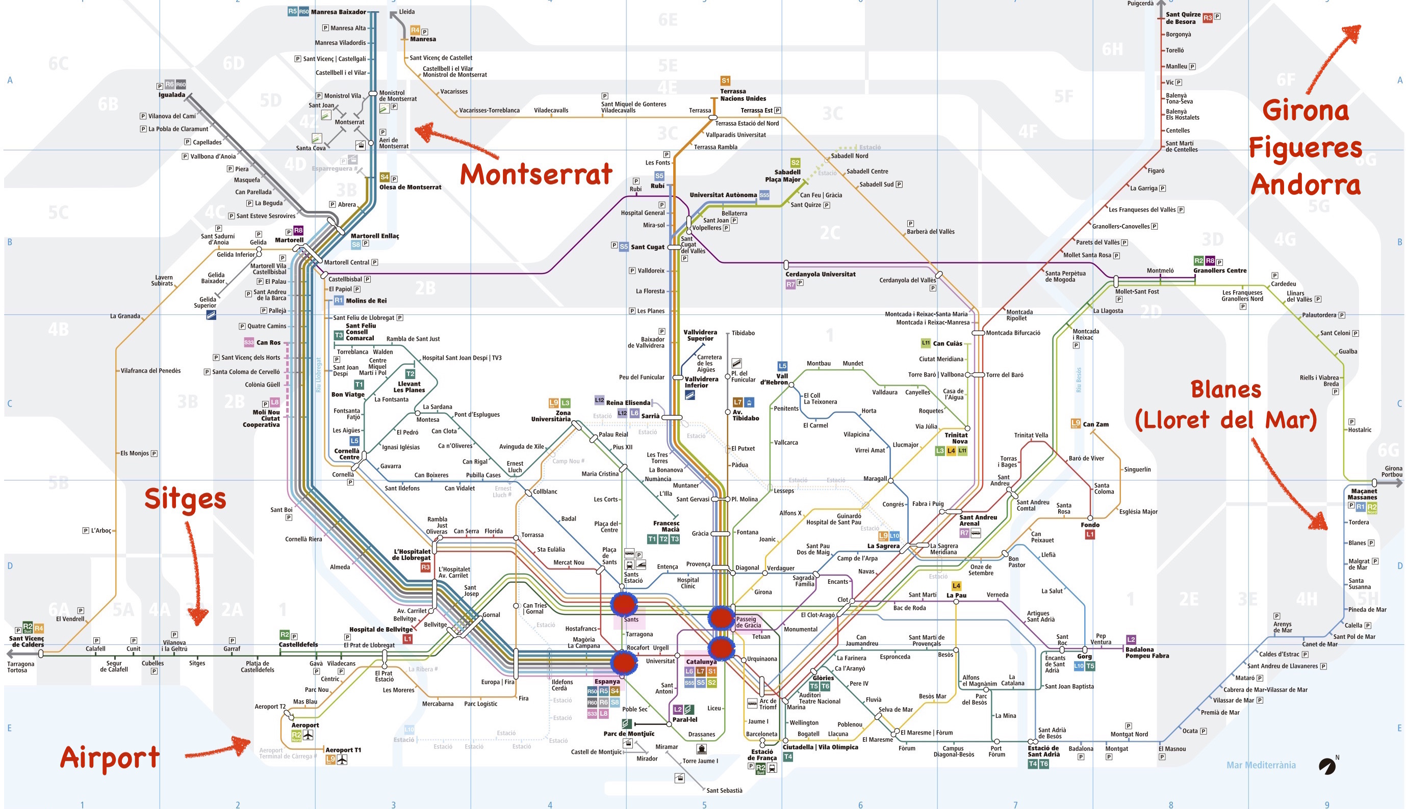 karta sitges Barcelona Maps   Maps of Barcelona with Tourist attractions and  karta sitges