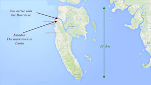 ko lanta map island thailand