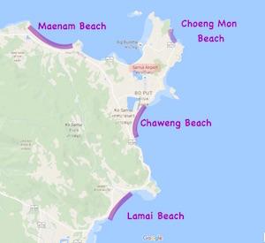 ko samui map  thailand