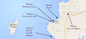 pattaya map thailand