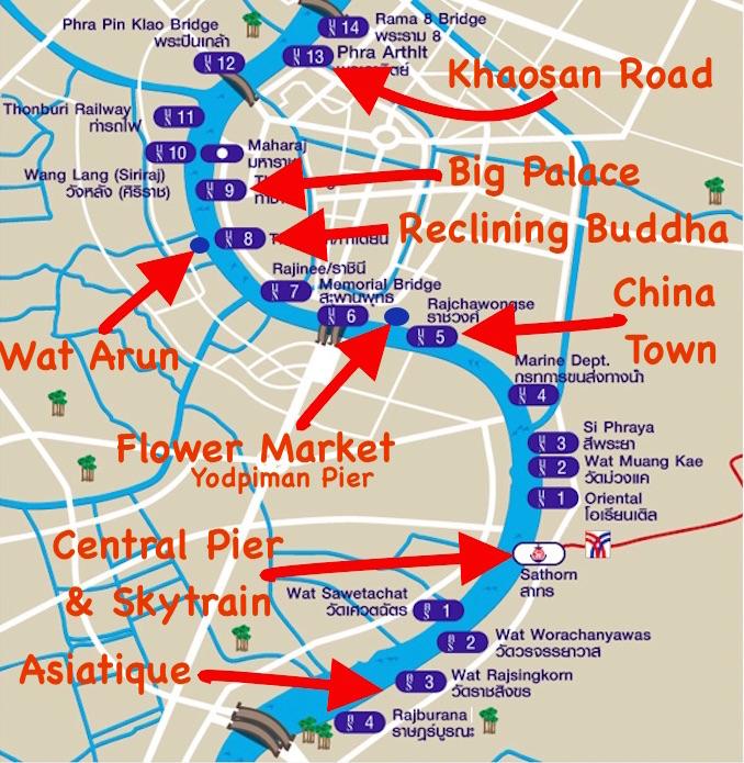 The Chao Phraya River Public service Boats of Bangkok – Maps Of Bangkok For Tourists