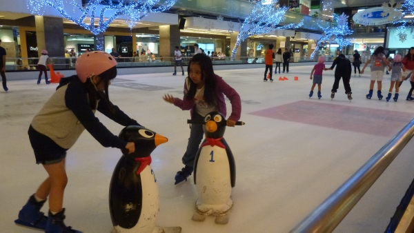 Ice skating at central world mall Bangkok