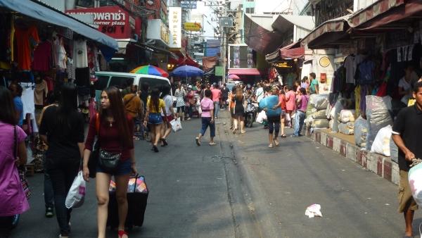 Pratunam wholesale market Bangkok