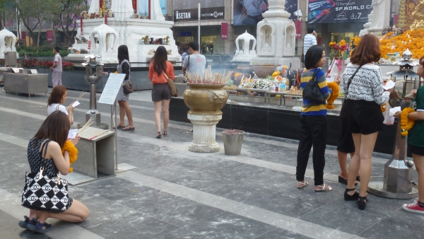shrine in front central world mall bangkok