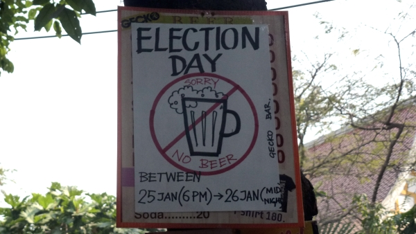 Alcohol khaosan at election day