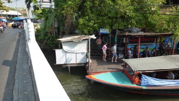 canal boats khaosan bangkok