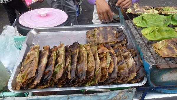 rice banana leaf khaosan bangkok