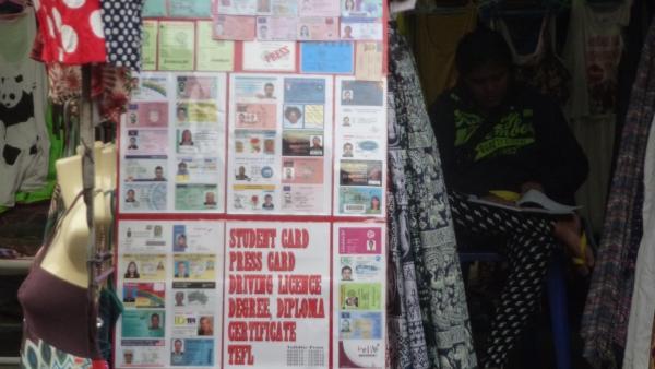 faked id cards khaosan bangkok
