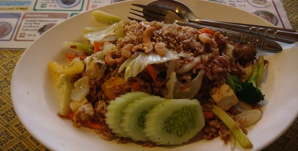 vegetarian plate khaosan bangkok