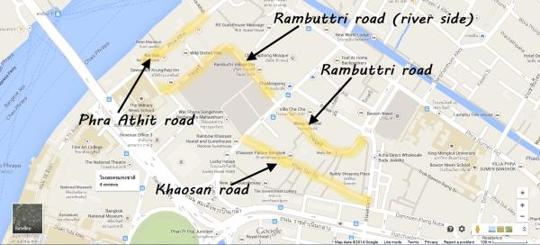 khaosan hotels map