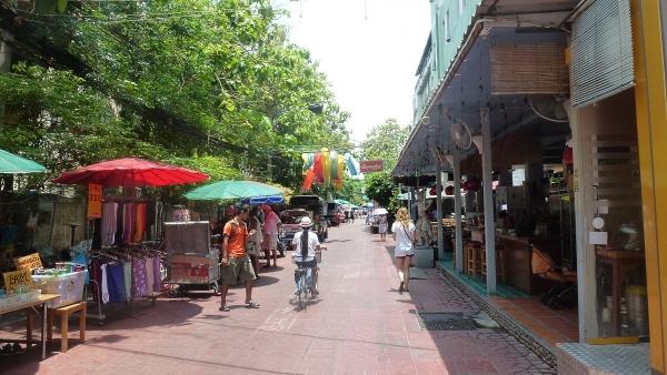 street Rambuttri River side in Bangkok