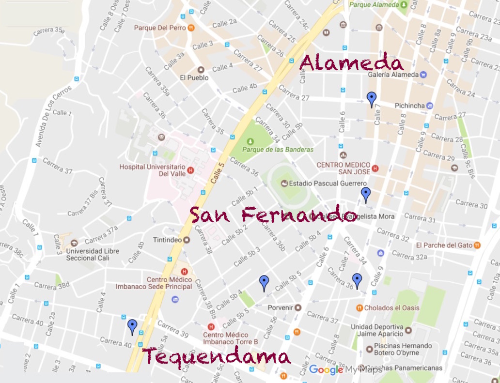 Where To Stay In Cali Colombia Potential Zones For The Hotel - Map of cali