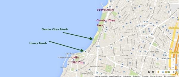 beach map tel aviv