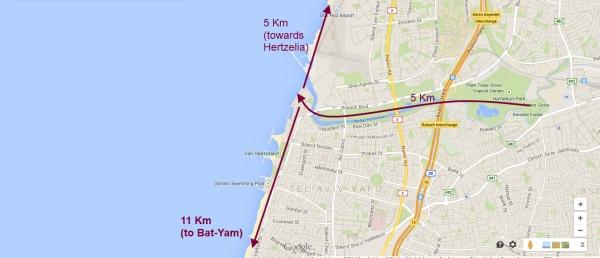 bike map tel aviv