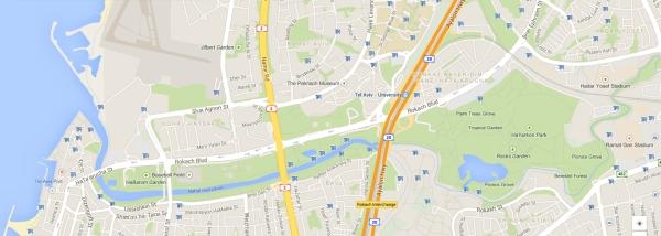 yarkon park map tel aviv
