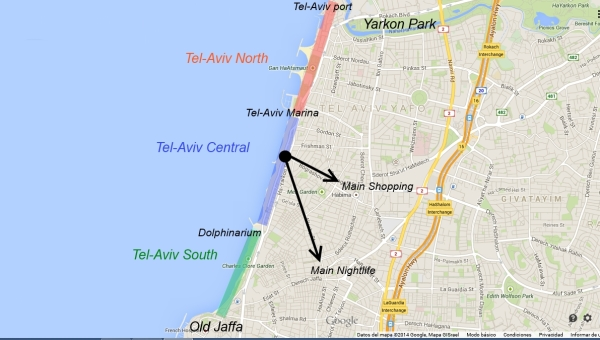 map where to saty tel aviv