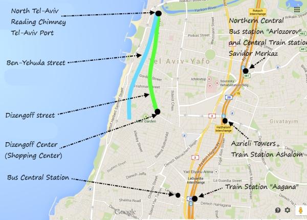bus lines tel aviv