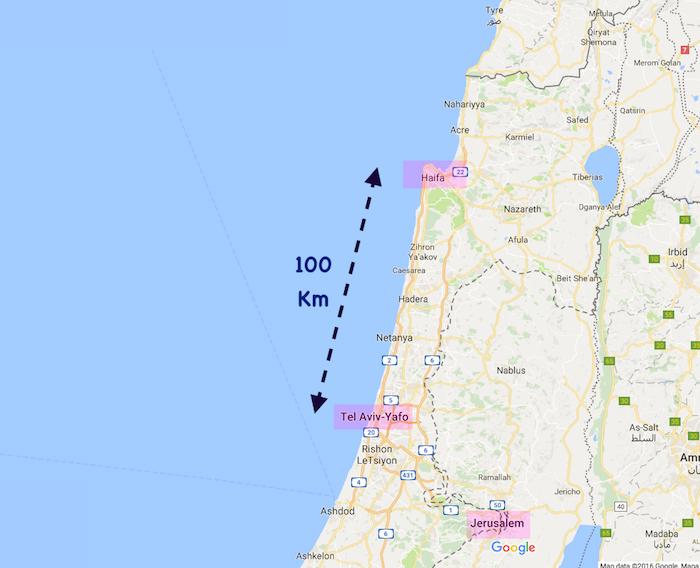 haifa tel aviv map
