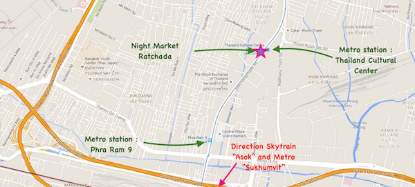 ratchada night market map bangkok