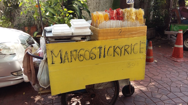 Thai characters mango sticky rice