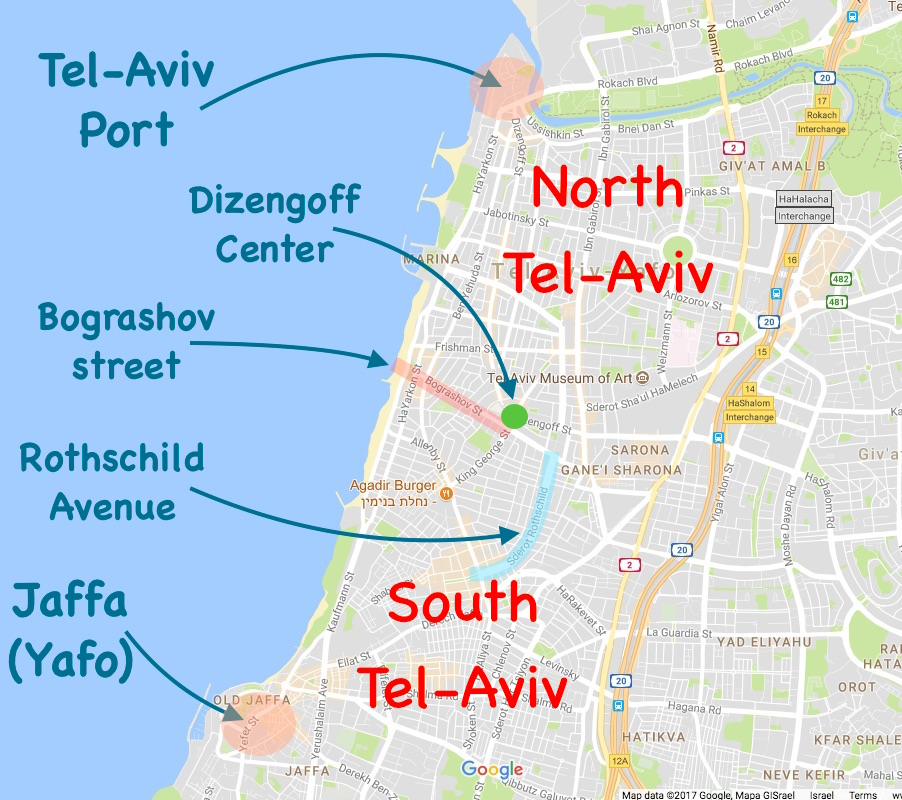 Where to go at night in tel aviv the best zones for nightlife in and this interactive map gumiabroncs Images