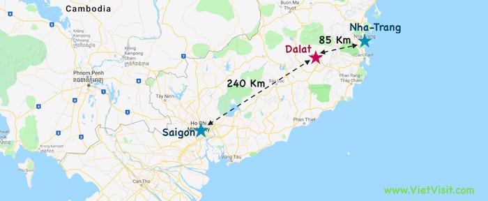 Mountains In Vietnam Map.Dalat Vietnam What To Visit Stay Transport A Visit In Saigon