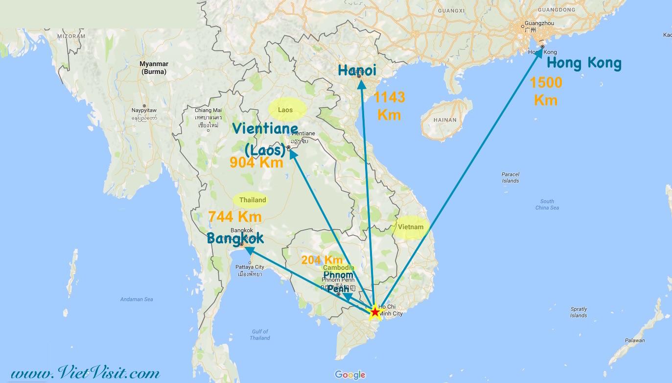 Where is Saigon (Ho Chi Minh) ? How Big is Saigon ?